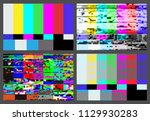 no signal tv test pattern... | Shutterstock .eps vector #1129930283