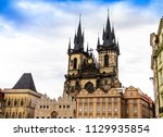 church of our lady before tyn... | Shutterstock . vector #1129935854