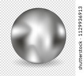 chrome ball realistic isolated... | Shutterstock .eps vector #1129936913