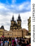 prague  czech republic. old... | Shutterstock . vector #1129936940