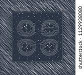 vector hand drawn pocket watch... | Shutterstock .eps vector #1129938080