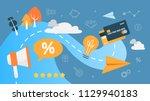customer loyalty concept.... | Shutterstock .eps vector #1129940183