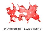 a splash of a transparent red... | Shutterstock . vector #1129946549