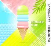 summer time   vector... | Shutterstock .eps vector #1129950209