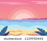 colorful flat style... | Shutterstock . vector #1129950443