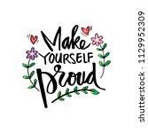 make yourself proud. hand... | Shutterstock .eps vector #1129952309