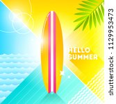 hello summer   vector... | Shutterstock .eps vector #1129953473