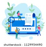 concept data protection ... | Shutterstock .eps vector #1129954490