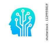 human head tech logo  circuit...   Shutterstock .eps vector #1129955819