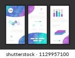 molecule background dna page... | Shutterstock .eps vector #1129957100