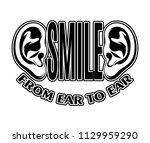 smile from ear to ear. quote... | Shutterstock .eps vector #1129959290