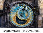 prague chimes or eagle clock ... | Shutterstock . vector #1129960208