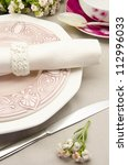 table with dishes prepared for...   Shutterstock . vector #112996033