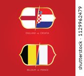 england  croatia  france ... | Shutterstock .eps vector #1129962479