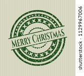 green merry christmas distress... | Shutterstock .eps vector #1129967006