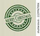 green merry christmas distress... | Shutterstock .eps vector #1129967006
