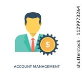 account management  a client...   Shutterstock .eps vector #1129973264