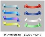 ribbon banner set promotional...   Shutterstock .eps vector #1129974248
