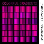 colorful gradients set for... | Shutterstock . vector #1129979858
