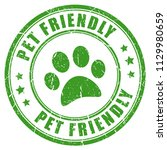 pet friendly vector stamp... | Shutterstock .eps vector #1129980659