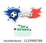 grunge soccer background. flag...   Shutterstock .eps vector #1129980788