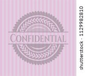 confidential realistic pink... | Shutterstock .eps vector #1129982810