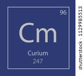curium cm chemical element icon ... | Shutterstock .eps vector #1129985513