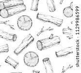 wood  burning materials. vector ... | Shutterstock .eps vector #1129986599
