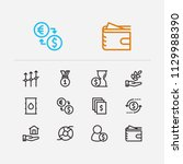 capital icons set. time money...