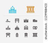 travel icons set  rome  canada  ...