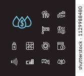 finance icons set. stock symbol ...