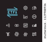 financial icons set. chart and...