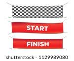 start and finish textile... | Shutterstock .eps vector #1129989080