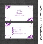 Business Card Concept. Vector...