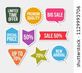 promo banners and stickers set. ... | Shutterstock .eps vector #1129993706