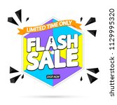flash sale  banner design... | Shutterstock .eps vector #1129995320