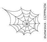 halloween cobweb vector frame...   Shutterstock .eps vector #1129996256