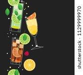 summer cocktails. vector... | Shutterstock .eps vector #1129999970