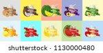 fruit juice vector  | Shutterstock .eps vector #1130000480