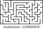 labyrinth of low complexity.... | Shutterstock .eps vector #1130004878