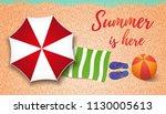 summer concept design. top view ... | Shutterstock .eps vector #1130005613