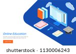 data storage or sharing concept ... | Shutterstock .eps vector #1130006243