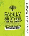 family like branches on a tree  ... | Shutterstock .eps vector #1130008499