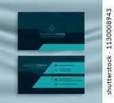 dark business card design... | Shutterstock .eps vector #1130008943