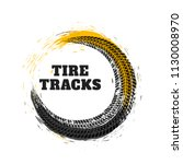 tire track in circle style | Shutterstock .eps vector #1130008970