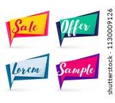 modern sale banners in... | Shutterstock .eps vector #1130009126