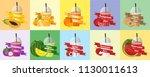 fruit juice vector  | Shutterstock .eps vector #1130011613