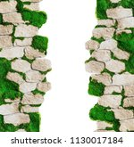 wall of decorative stone and... | Shutterstock . vector #1130017184