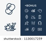 healthy icon set and rounds...