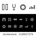 melody icon set and pause with...